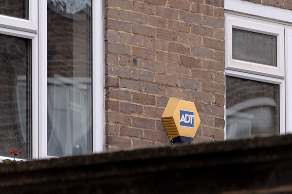 ADT security alarm installed at a house